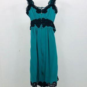 Betsey Johnson Dress Evening Lace 100% Silk Sz 2